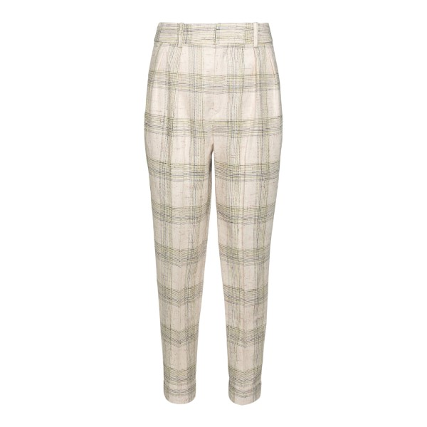 Beige checked trousers                                                                                                                                Isabel Marant PA1743 back