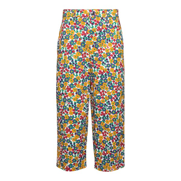 Multicolored floral crop trousers                                                                                                                     Marni PAJDV05A00 back