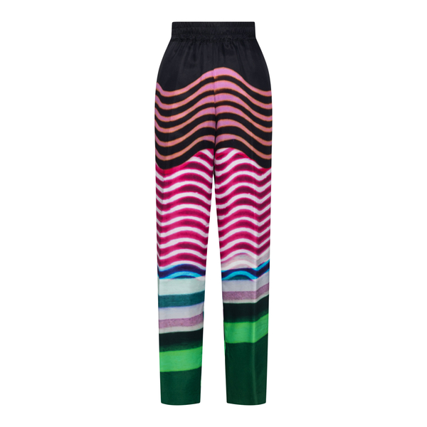 Lightweight multicolored patterned trousers                                                                                                           Dries Van Noten PALACO back