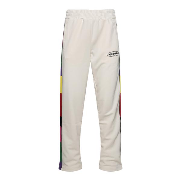 Pantaloni sportivi bianchi con fasce laterali                                                                                                         Palm Angels X Missoni PMCA007F21FAB012 retro