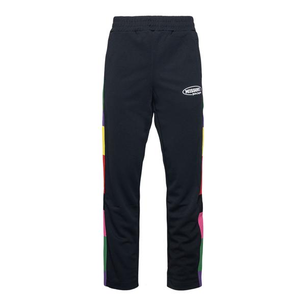 Pantaloni neri con fasce multicolore                                                                                                                  Palm Angels X Missoni PMCA007F21FAB012 retro