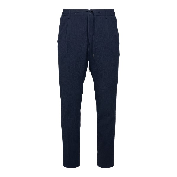 Blue trousers with elastic waist                                                                                                                      Tagliatore PNEWMAN back