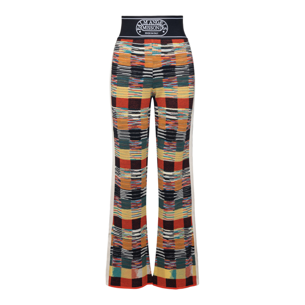 Multicolored flared trousers                                                                                                                          Palm Angels X Missoni PWHG006F21KNI001 back