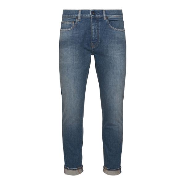 Jeans dritti blu effetto sbiadito                                                                                                                     Pence RICO retro
