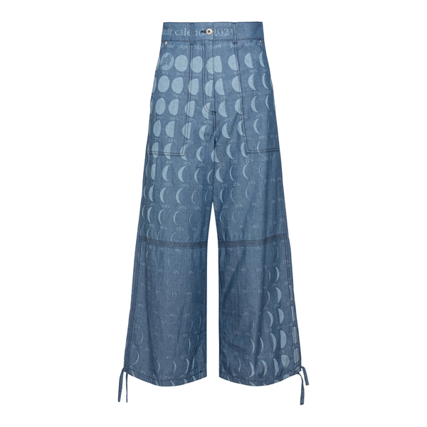 Wide leg jeans with moon prints                                                                                                                       Loewe Paula's Ibiza S616Y04X09 front