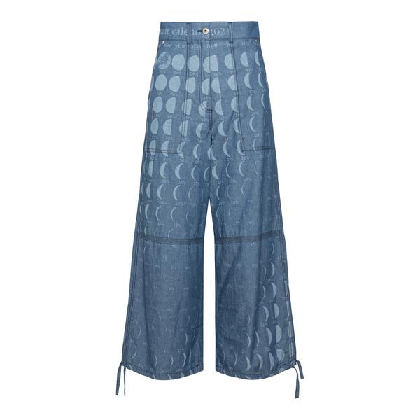 Wide leg jeans with moon prints                                                                                                                       Loewe Paula's Ibiza S616Y04X09 back