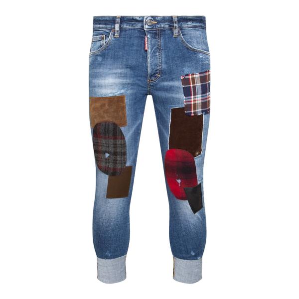 Jeans skinny blu con toppe                                                                                                                            Dsquared2 S71LB0928 retro