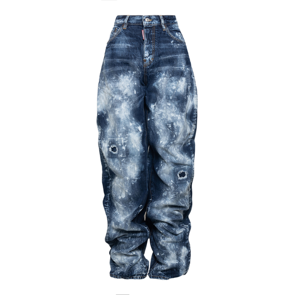 Distressed effect baggy jeans                                                                                                                         Dsquared2 S72LB0418 back