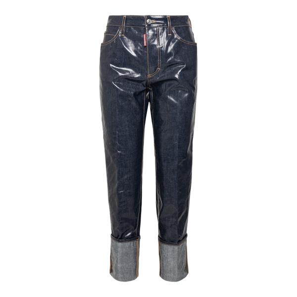 Jeans blu scuro lucidi                                                                                                                                Dsquared2 S72LB0411 retro