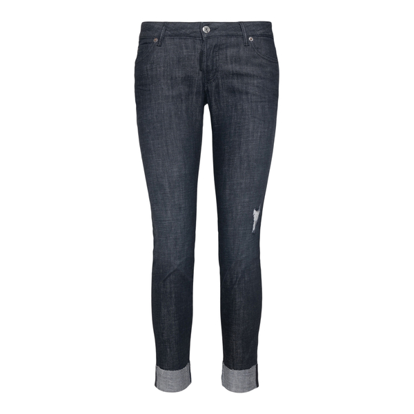Skinny jeans with gold logo                                                                                                                           Dsquared2 S72LB0469 back