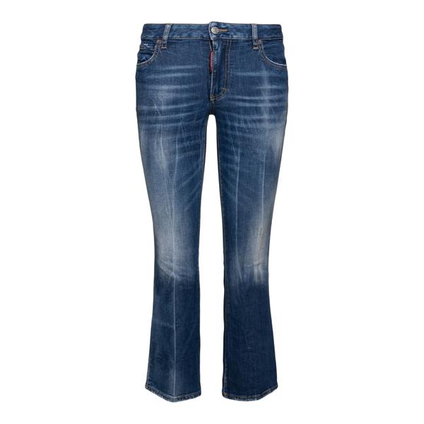 Jeans svasati blu effetto sbiadito                                                                                                                    Dsquared2 S72LB0448 retro