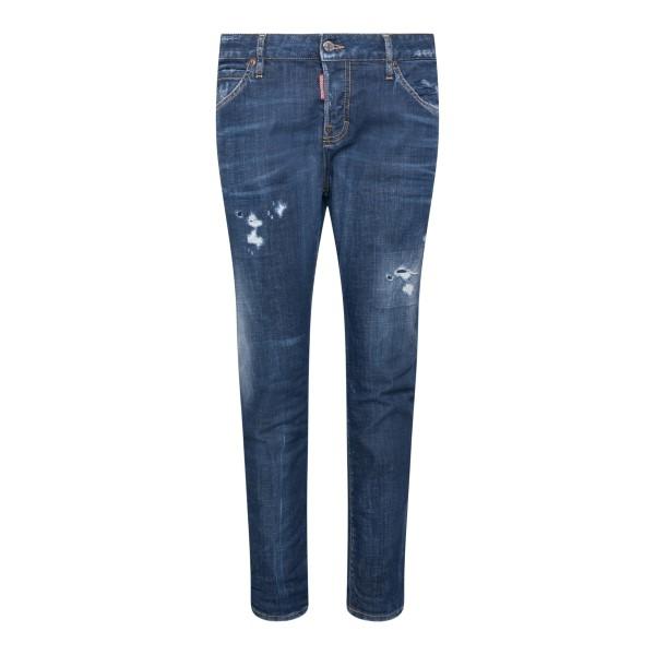 Jeans skinny in effetto vissuto                                                                                                                       Dsquared2 S72LB0467 retro