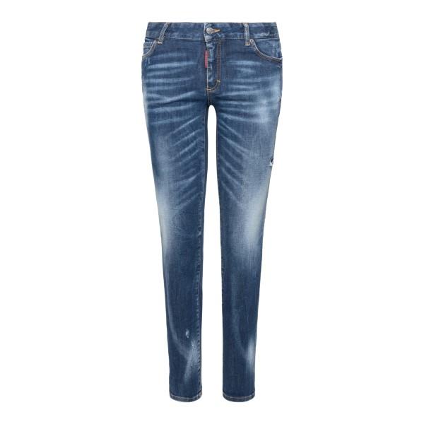 Jeans skinni in effetto sbiadito                                                                                                                      Dsquared2 S72LB0433 retro