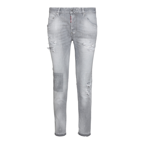 Distressed grey skinny jeans                                                                                                                          Dsquared2 S74LB0987 back