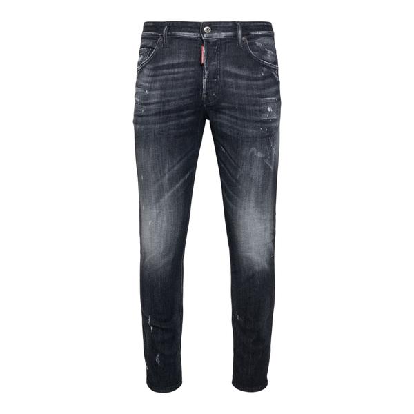 Distressed black skinny jeans                                                                                                                         Dsquared2 S74LB0999 back