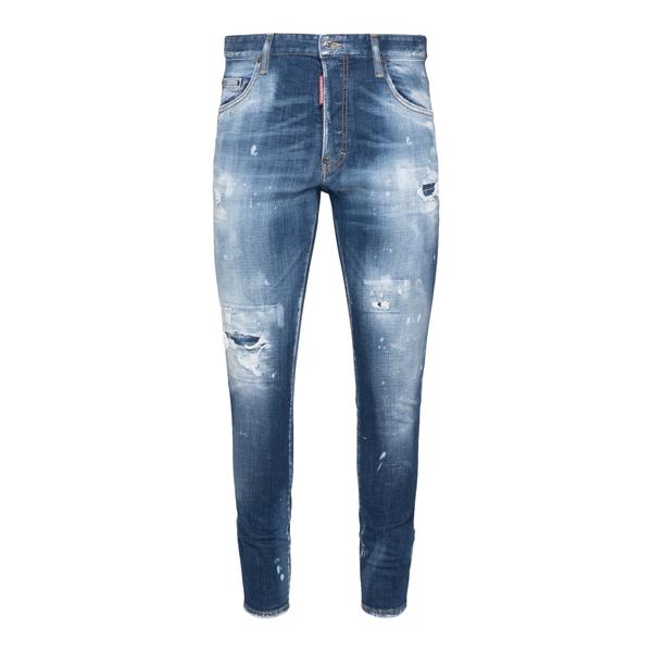 Jeans in denim blu effetto vissuto                                                                                                                    Dsquared2 S74LB0953 retro