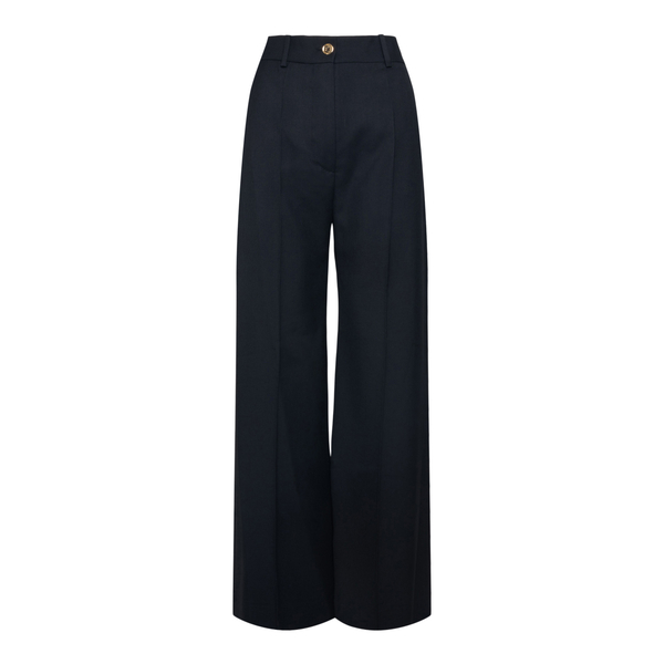 Black wide leg trousers with crease                                                                                                                   Patou TR0020005 back