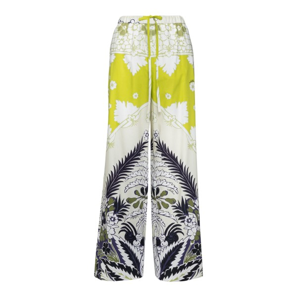 Multicolored wide leg trousers                                                                                                                        Valentino VB3RB455 back