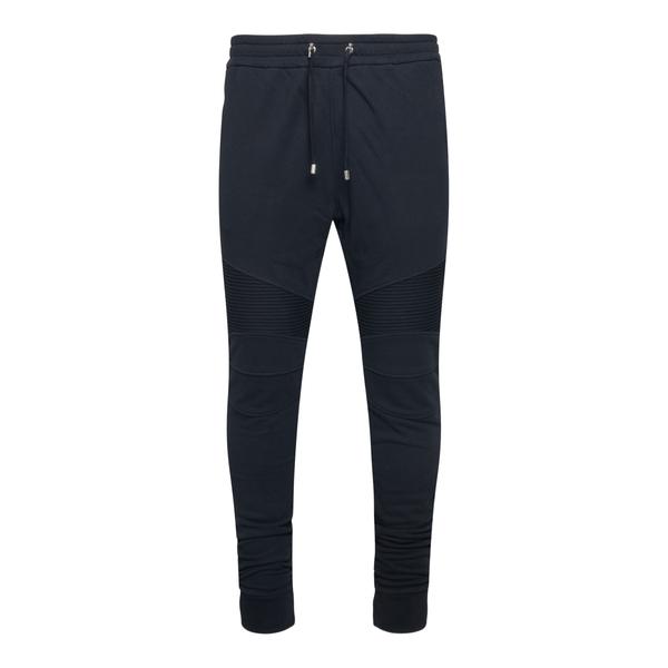 Pantaloni sportivi neri con stampa logo                                                                                                               Balmain WH1OB000B071 retro
