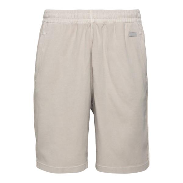 Beige shorts with logo                                                                                                                                Zegna ZZP14 back