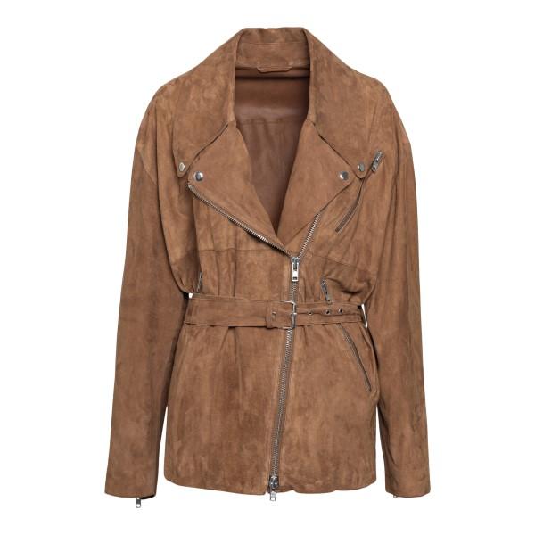 Brown leather biker jacket                                                                                                                            Sword 8688 back