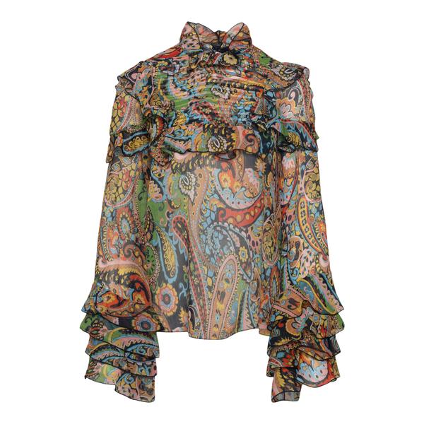 Blusa multicolore semitrasparente                                                                                                                     Etro 18421 retro