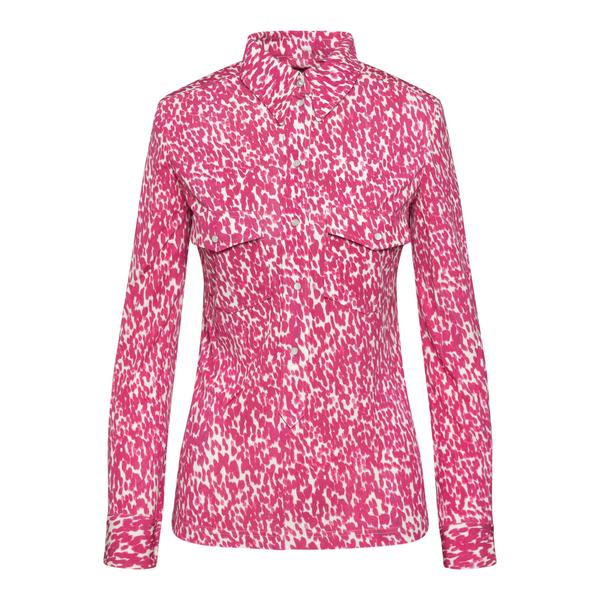 Fuchsia patterned shirt                                                                                                                               Isabel Marant HT2185 back