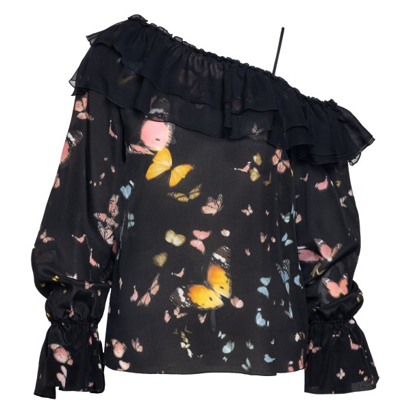 Black top with butterfly print                                                                                                                        Blumarine 25154 back