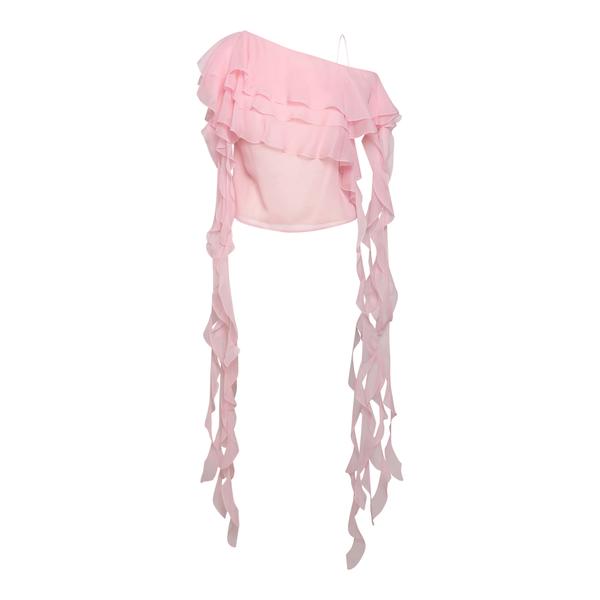 Top rosa con drappeggi laterali                                                                                                                       Blumarine 25501 retro