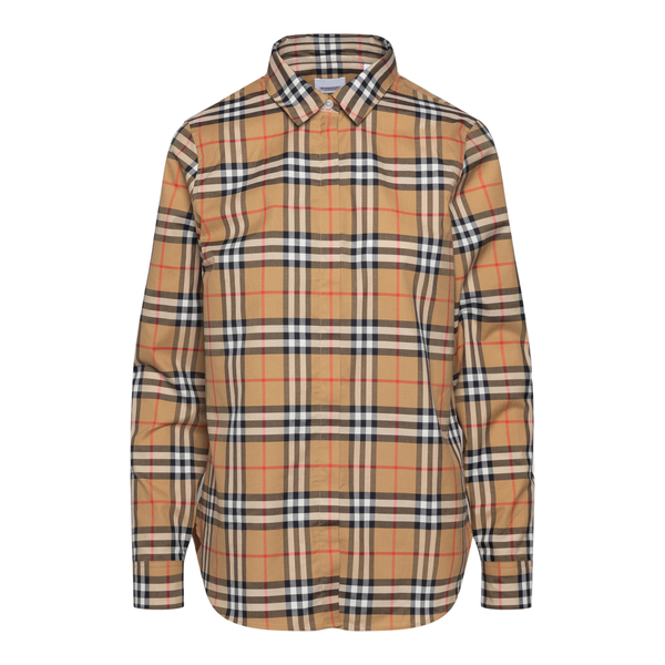 Beige checked shirt                                                                                                                                   Burberry 8014010 back