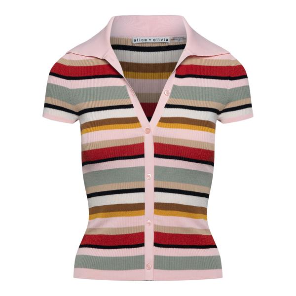 Multicolored striped polo shirt                                                                                                                       Alice+olivia CC106S08706 back