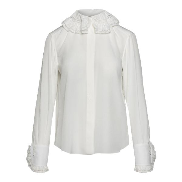 White shirt with ruffles                                                                                                                              Chloe' CHC21SHT04 front