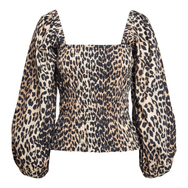 Leopard print top                                                                                                                                     Ganni F5656 front