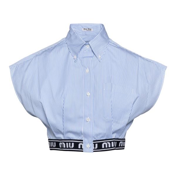 Top a camicia a righe                                                                                                                                 Miu miu MK1433 fronte