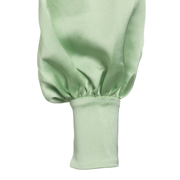 Blusa crop verde effetto satinato                                                                                                                      ANDAMANE                                           ANDAMANE