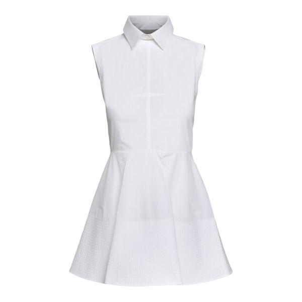 Top bianco smanicato con vita peplum                                                                                                                  Patou TO0230017001W fronte