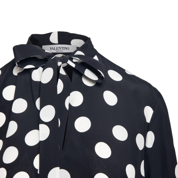 Black polka dot blouse                                                                                                                                Valentino VB3AE5G7 back