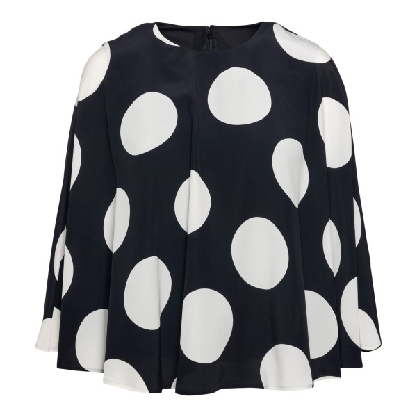 Black top with white polka dots                                                                                                                       Valentino VB3AE5U5 back