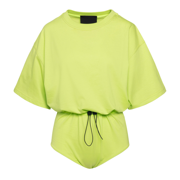 T-shirt a body in verde fluo                                                                                                                          Red Valentino VR0MC00W retro