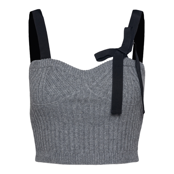 Grey knitted crop top                                                                                                                                 Red Valentino                                      WR0KM00P back
