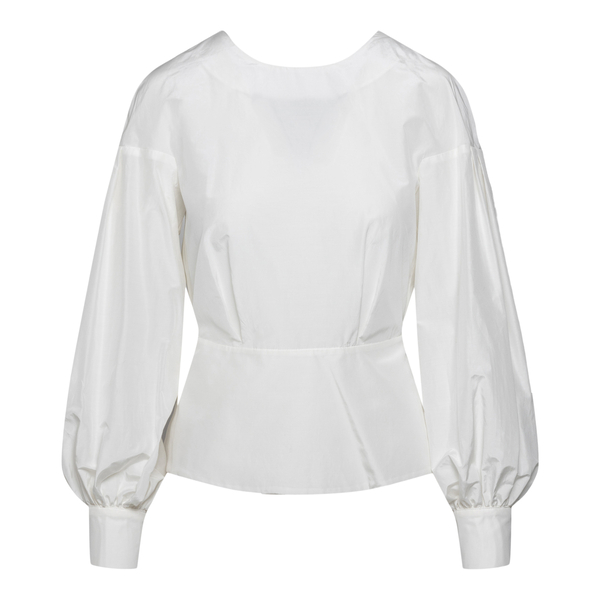 White peplum waisted blouse                                                                                                                           Max Mara Studio ZIBETTO back