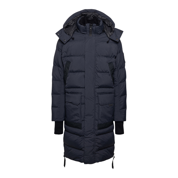 Long dark blue down jacket with logo patch                                                                                                            Canada Goose CG2611MB35 back