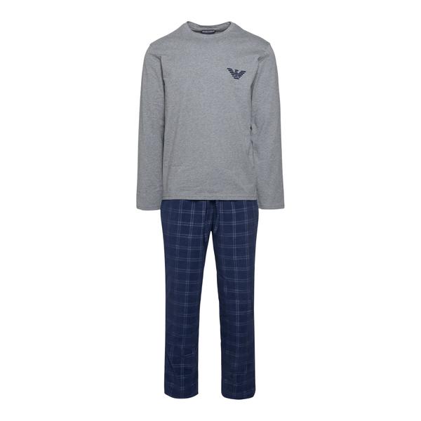 Pajamas with grey T-shirt and blue pants                                                                                                              Emporio Armani 111955 back