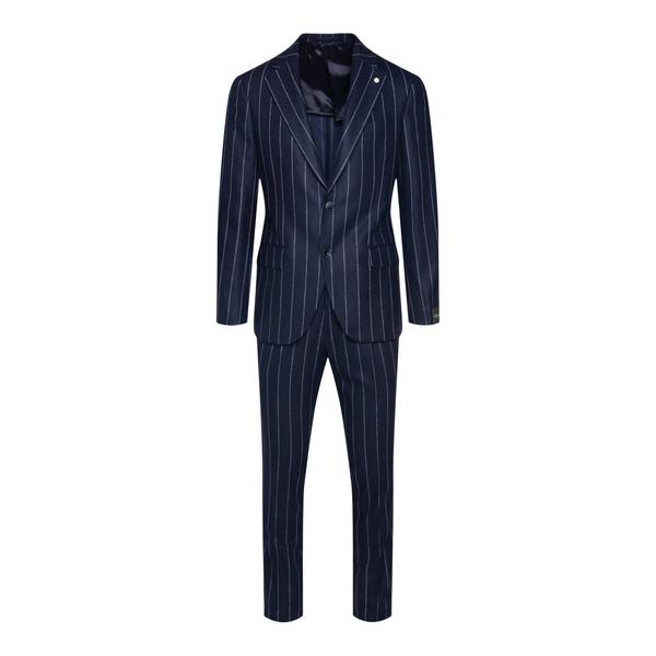 Blue pinstripe suit                                                                                                                                   Lubiam 3355 back