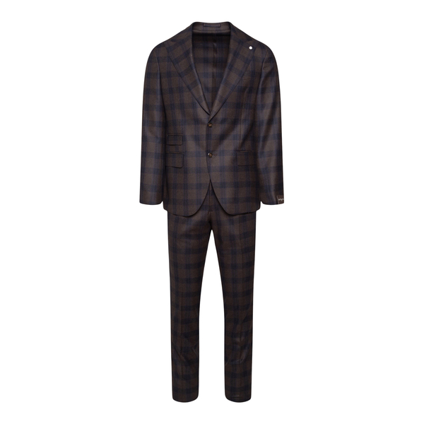 Brown checked suit                                                                                                                                    Lubiam 3408 back