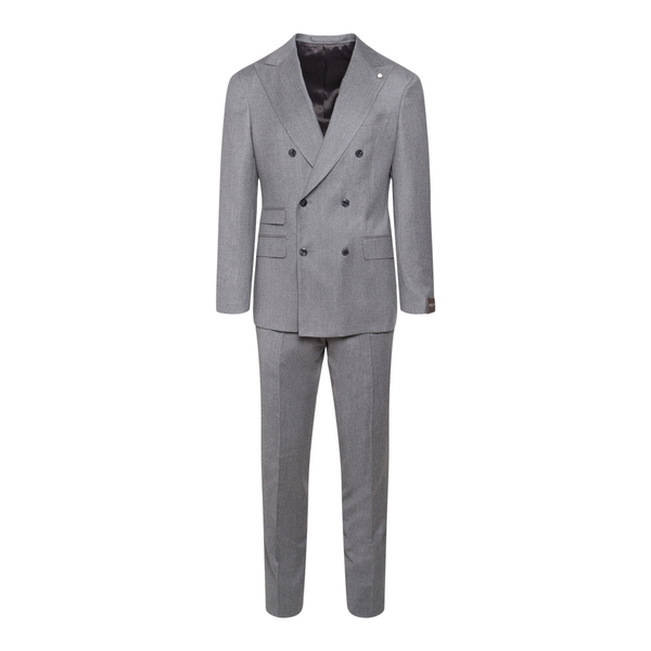 Grey double-breasted suit                                                                                                                             Lubiam 3409 back