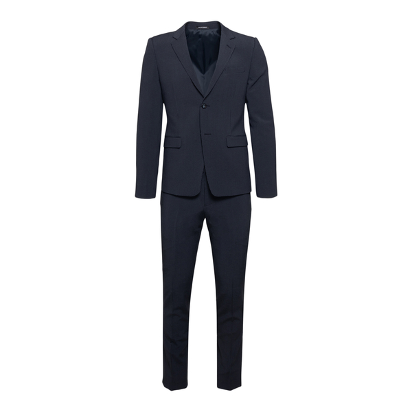 Black suit with striped texture                                                                                                                       Emporio Armani A1V16E back