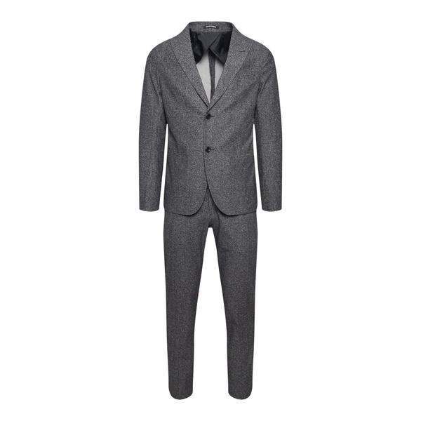 Elegant grey suit with texture                                                                                                                        Emporio Armani B1V99H back