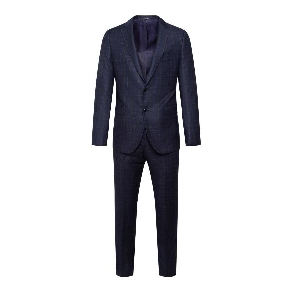 Elegant blue checked suit                                                                                                                             Emporio Armani B1VMET back
