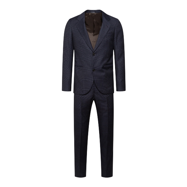 Blue suit with light pattern                                                                                                                          Emporio Armani B1VWPF back